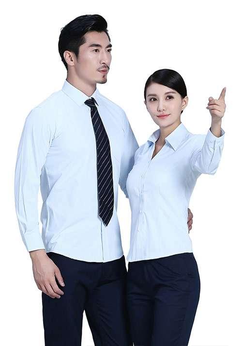 蓝色纯棉时尚衬衫