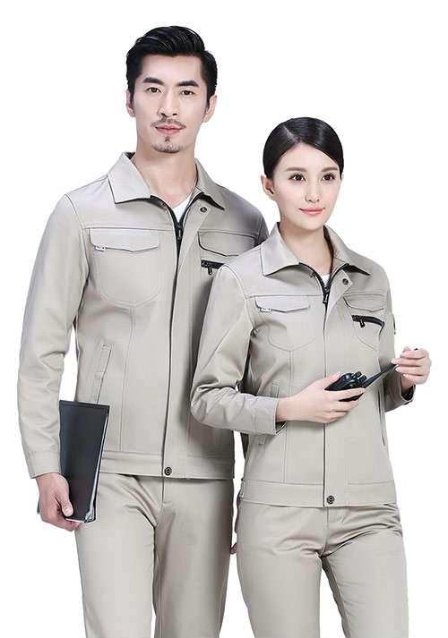 卡其涤棉工程服1