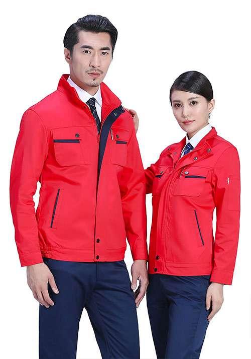 红色涤棉工作服
