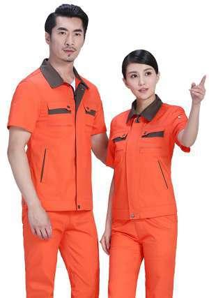 桔红短袖工程服
