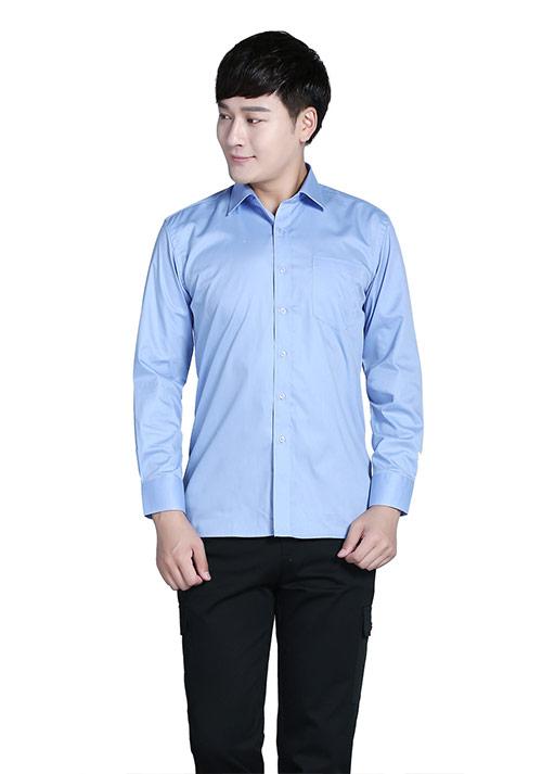 蓝色衬衫加工定制