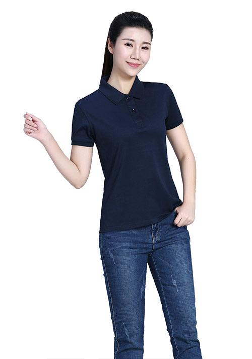 藏蓝T恤文化衫定制