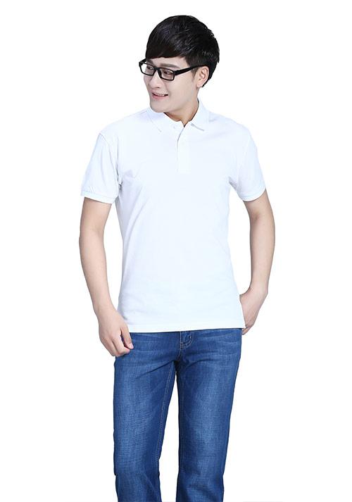 白色短袖文化衫T恤