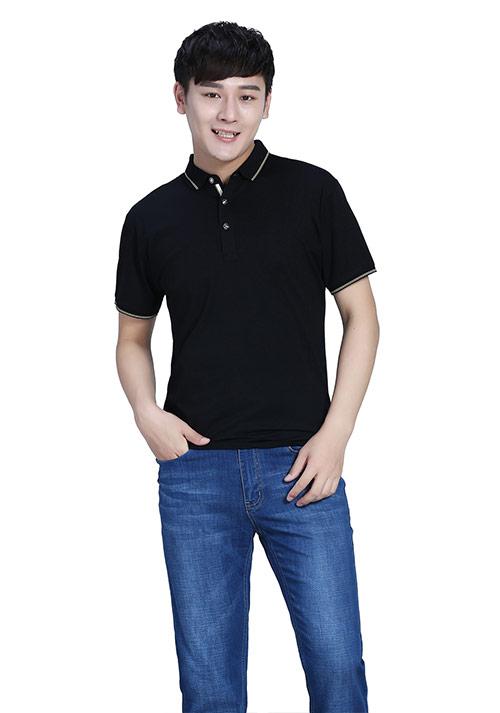 黑色短袖T恤文化衫定制