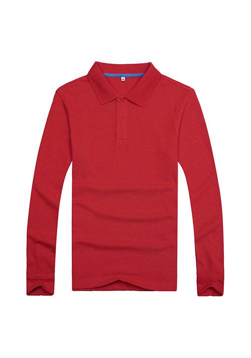 红色长袖T恤文化衫定制