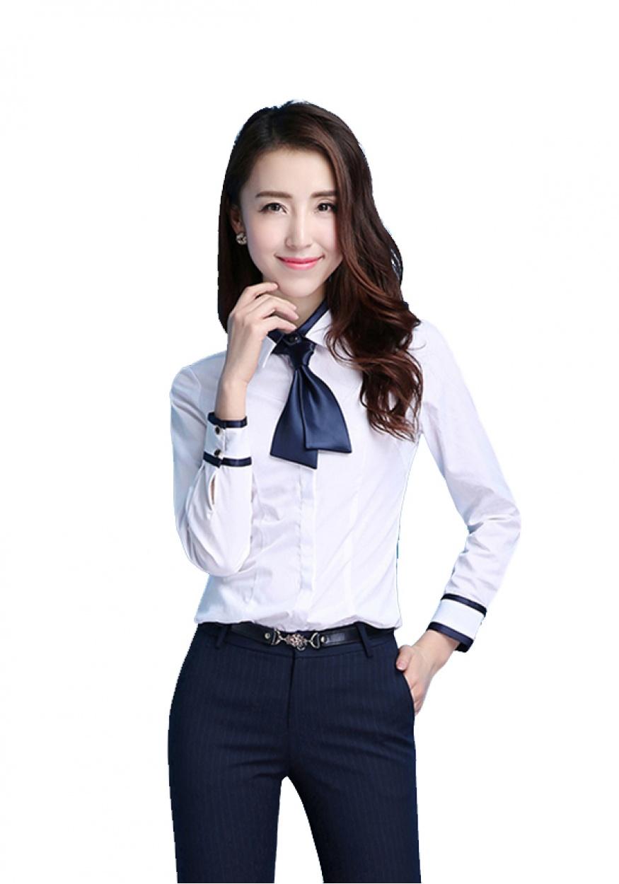 白色女士职业衬衫
