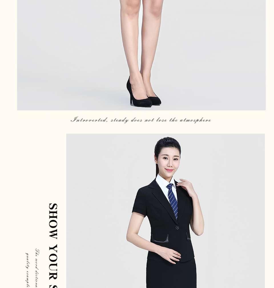 新款黑色半袖女士套装FX05